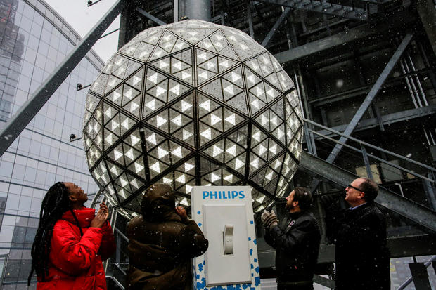 New Year's Eve Ball test at Times Square in New York