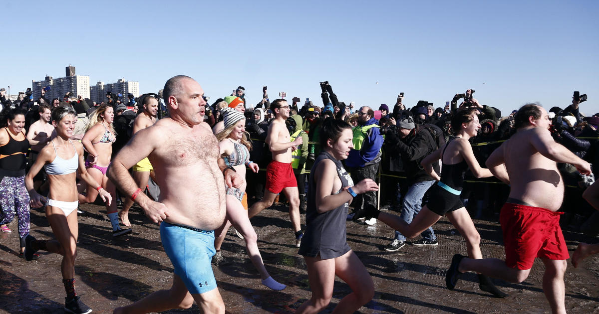 Hundreds take part in frigid Polar Bear Plunge on New York's Coney Island