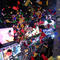 Confetti falls in Times Square just after midnight during New Year celebrations in New York City