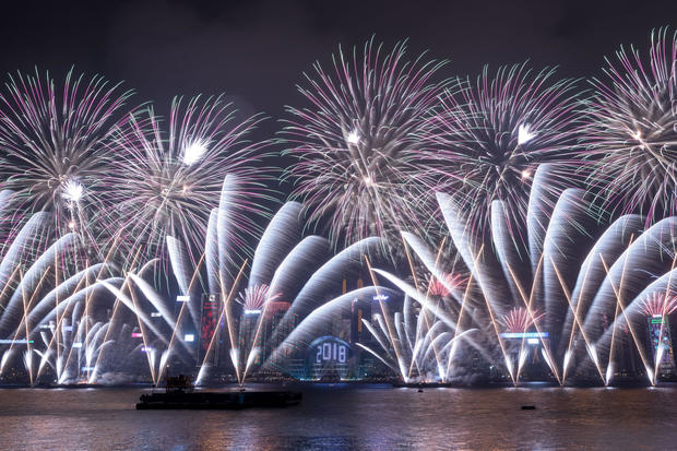 hong kong happy new year celebrations around the globe pictures cbs news