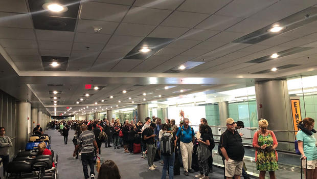 Long Lines At Miami International Airport Due To US Customs Computer Issue