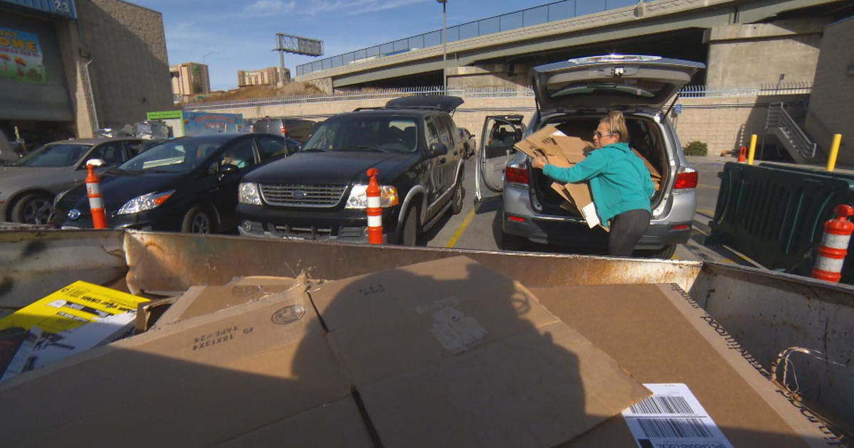 Burbank Recycling Center >> Recycle centers overwhelmed with boxes after online holiday shopping season - CBS News