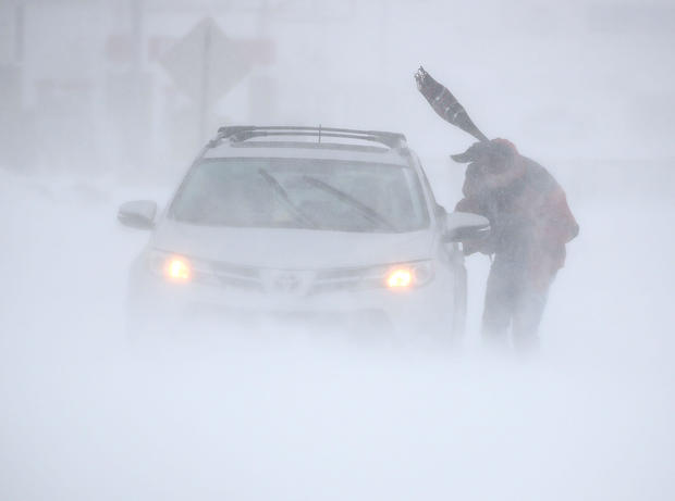 """Bomb cyclone"": Mammoth winter storm hits Northeast"