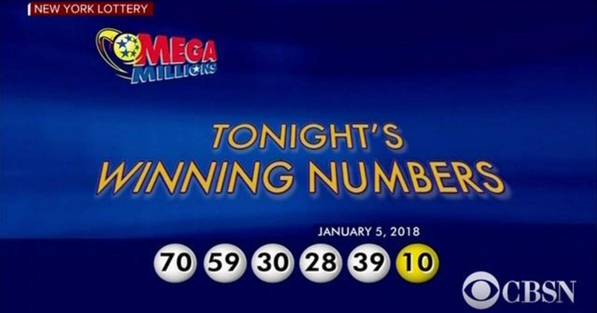 Mega Millions numbers drawn for January 5, 2018 - CBS News