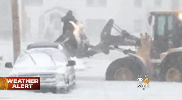 Cold weather, blizzard conditions and Boston area flooding
