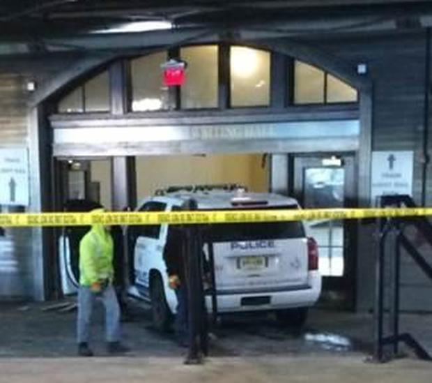 Stolen Police Vehicle Driven Into Hoboken New Jersey Train Station