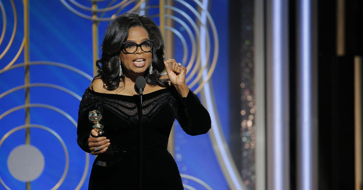 Oprah gives stirring speech accepting Cecil B. DeMille award at Golden Globes Awards