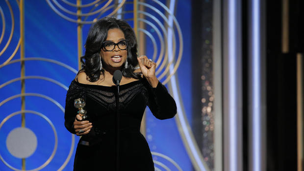 Oprah gives stirring Globes speech accepting Cecil B. DeMille award