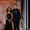 Presenters Kerry Washington (L) and  Garrett Hedlund at the 75th Golden Globe Awards in Beverly Hills, California