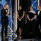 "Alexander Skarsgaard kisses his award for  Best Performance by an Actor in a Supporting Role in a Series, Limited Series, or Motion Picture Made for Television for ""Big Little Lies"" at the 75th Golden Globe Awards in Beverly Hills, California"