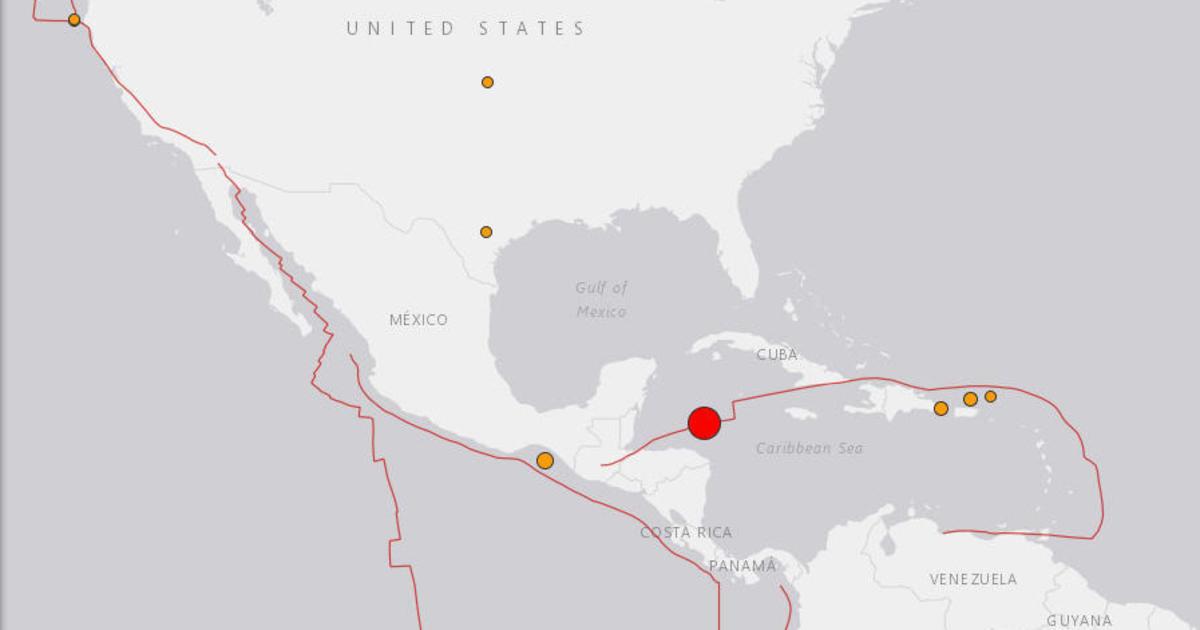 Magnitude 7.6 earthquake strikes off Central America, USGS says ...