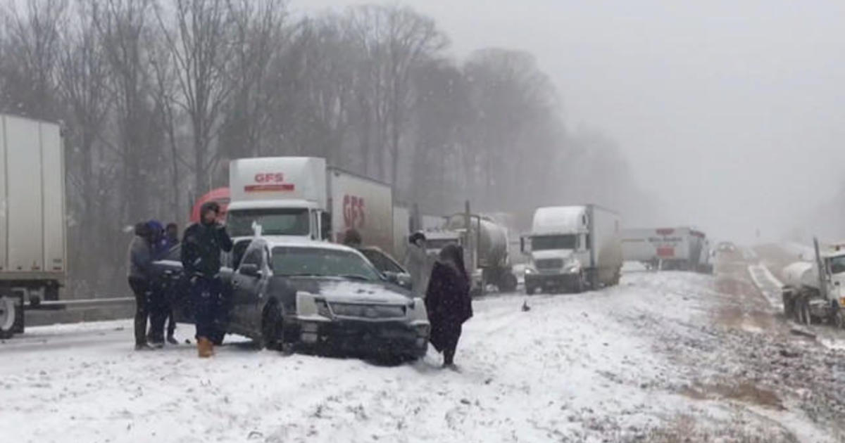 Treacherous weather hits the eastern third of the U S