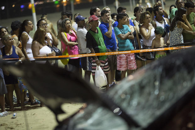 Brazil Car Hits Crowd