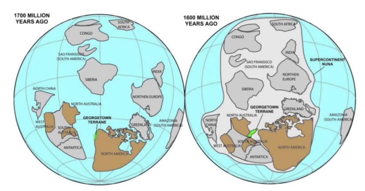 Australia And America Map.1 7 Billion Year Old Chunk Of North America Found Stuck To Australia