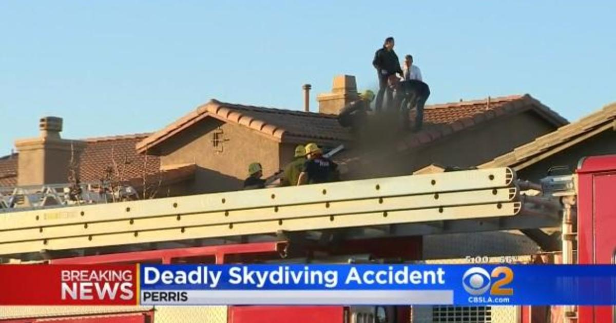 Skydiver killed after falling onto roof in Perris