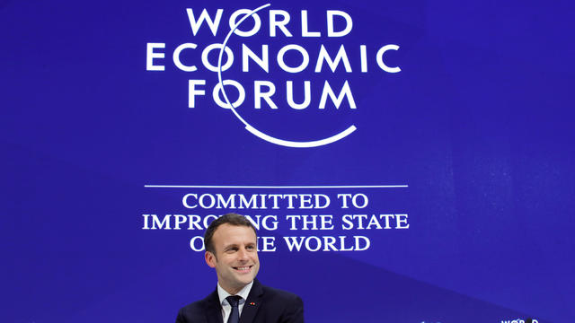 France's President Emmanuel Macron attends the World Economic Forum (WEF) annual meeting in Davos