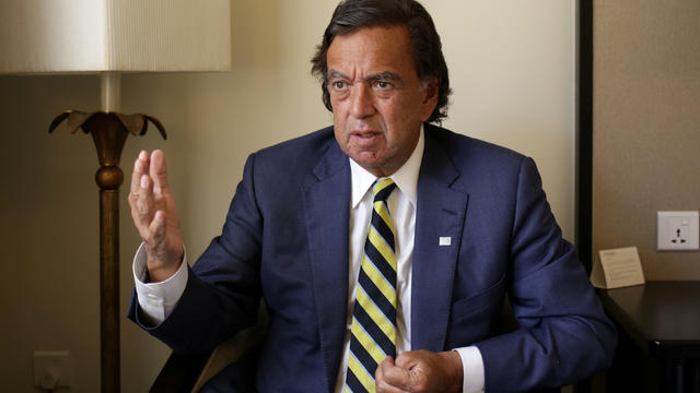 Former New Mexico governor Bill Richardson speaks during an interview with Reuters as a member of an international advisory board on the crisis of Rakhine state in Yangon