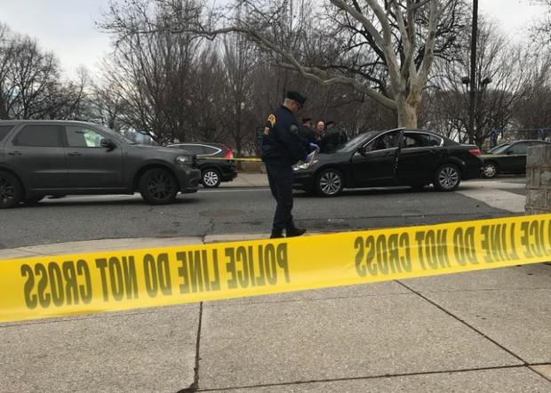 An off-duty police officer shot an erratic driver in South Philadelphia who police say was trying to run over pedestrians early on Jan. 29, 2018.