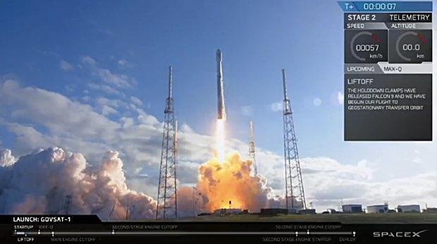 SpaceX delivers GovSat-1 to orbit