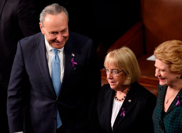What Were Those Purple Ribbons For at the State of the Union?