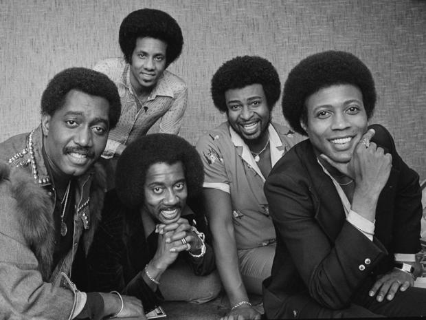 The Temptations singing group. Front, from left: Otis Williams, Melvin Franklin, Glenn Beonard. Back, from left, Richard Street and Dennis Edwards.