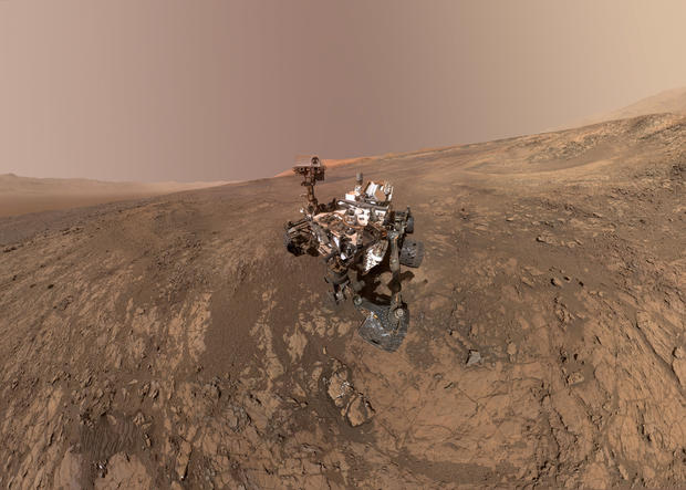 Space Mars Rover Selfies