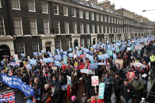 BRITAIN-POLITICS-HEALTH-PROTEST