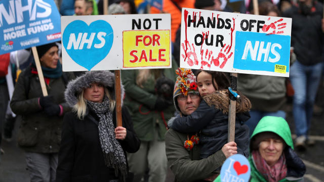 BRITAIN-POLITICS-HEALTH-PROTEST