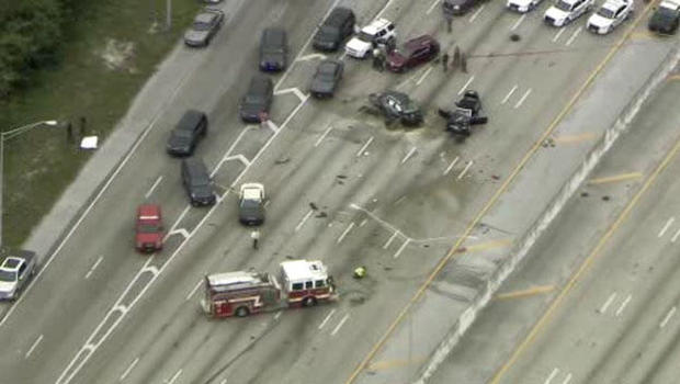 Wrong-Way Chase, Crash & Deadly Deputy Involved Shooting On I-95