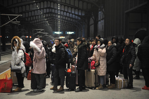 Migrant Workers Return Homes For Spring Festival