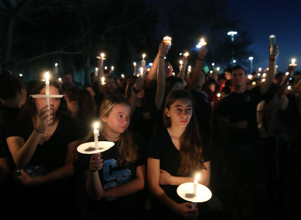 Florida Town Of Parkland In Mourning After Shooting At Marjory Stoneman Douglas High School Kills 17