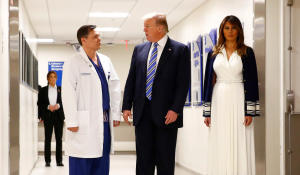 """""""The job they've done is incredible,"""" Trump tells doctors, first responders"""