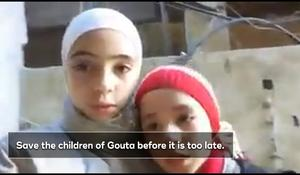 """""""Save the children of Ghouta,"""" plead young sisters in Syria as missiles rain down"""