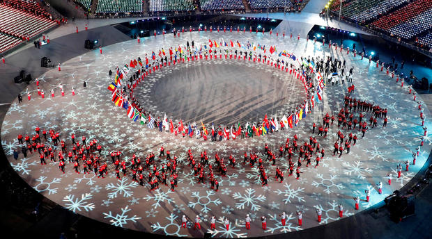 2018 Olympics: Spectacle of Winter Games' Closing Ceremony