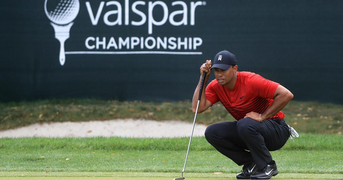 tiger woods ties for second  paul casey wins at valspar