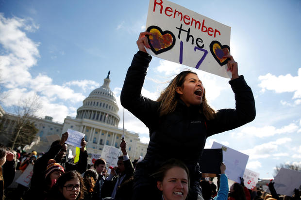 students walk out washington d.c.