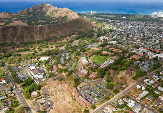 Through a combination of solar shade canopies, distributed energy storage and energy efficiency measures, Kapi'olani Community College will reduce fossil fuel consumption by 74 percent. Photo Credit: University of Hawaii / Lincoln Ishii