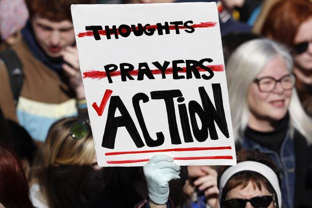 """Students and young people gather for the """"March for Our Lives"""" rally demanding gun control in Washington"""