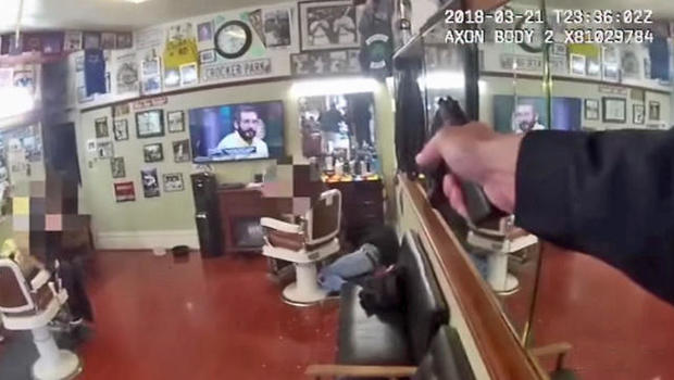 San Francisco police release video of deadly barber shop shooting - CBS News