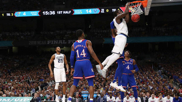 Villanova rains 3s on Kansas for 95-79 Final Four victory