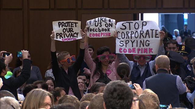 Code Pink - Facebook protesters - Pictures - CBS News