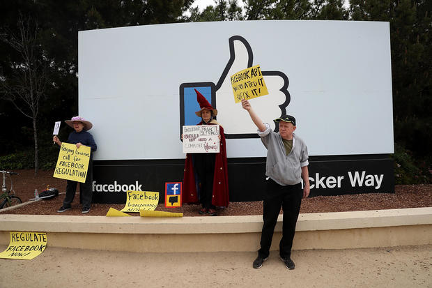 Facebook protesters