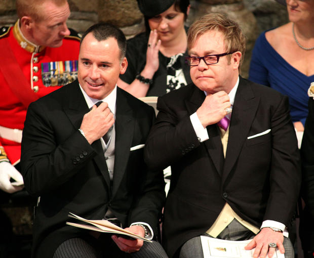 British artist Elton John (R) and his pa