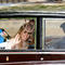 Princess Beatrice of York  waves as she