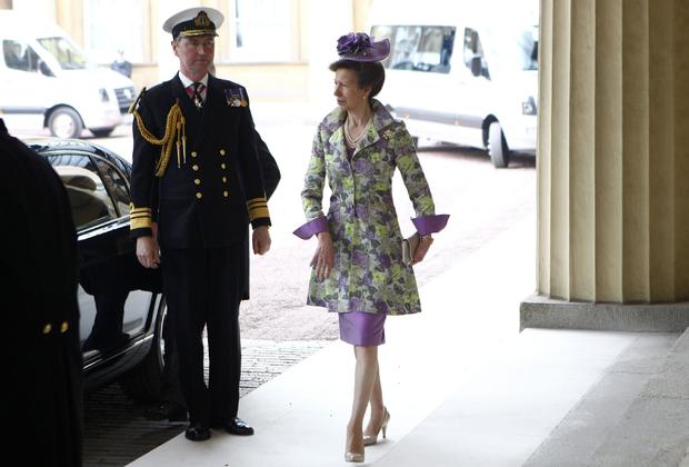 Britain's Princess Anne (R) arrives at B