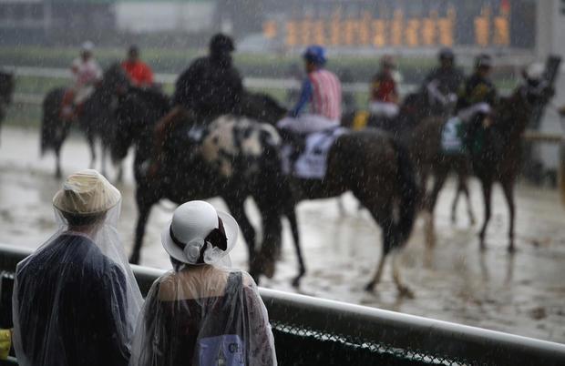 Kentucky Derby rain