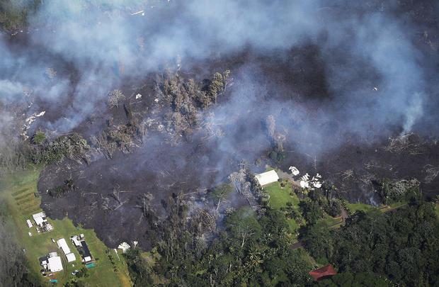 Hawaii's Kilauea Volcano (aerial)