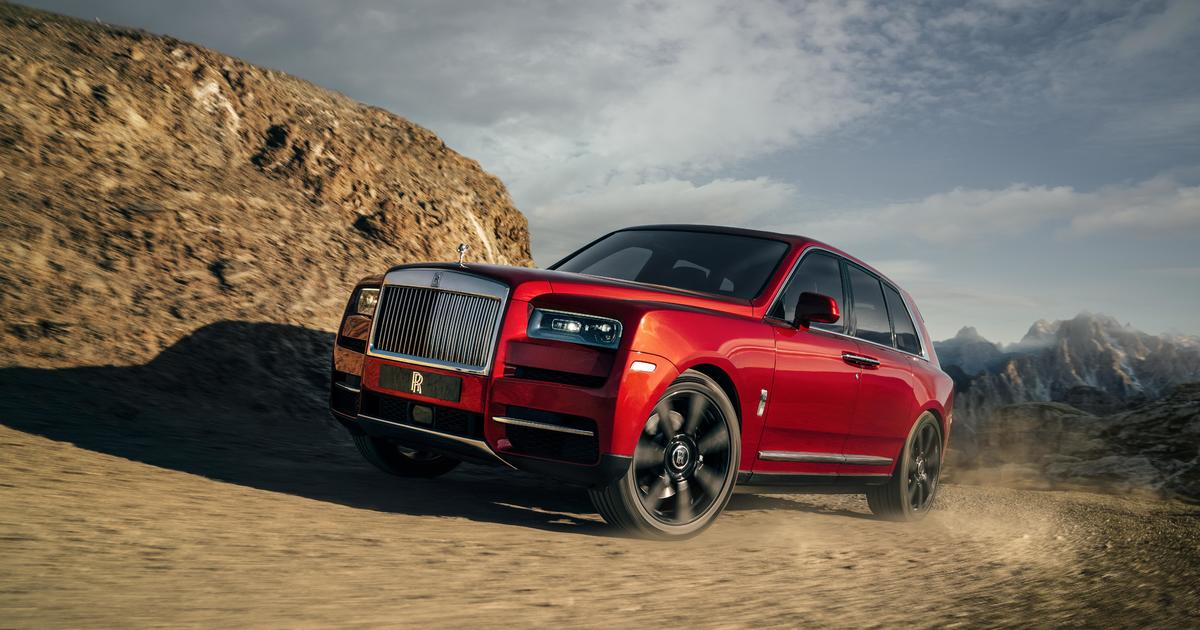rolls royce rolls out its first suv with a 325 000 price tag cbs news. Black Bedroom Furniture Sets. Home Design Ideas
