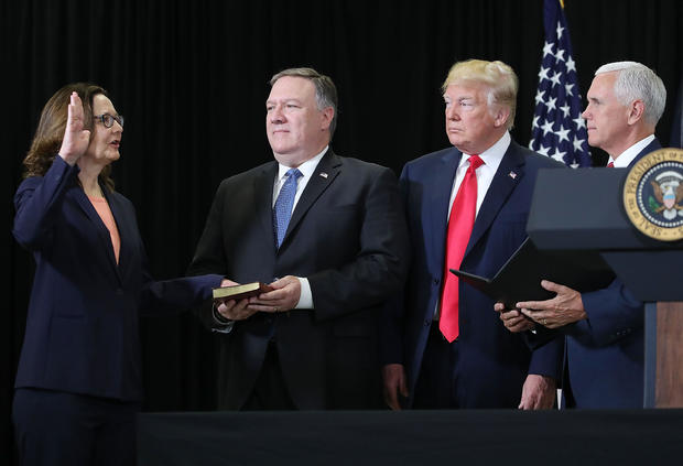 President Trump Takes Part In Swearing In Of CIA Director Gina Haspel