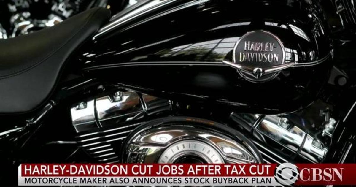 Harley Davidson Cut Jobs Repurchased Shares After Tax Cut Cbs News